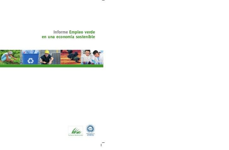 Informe Empleo verdeen una economía sostenible