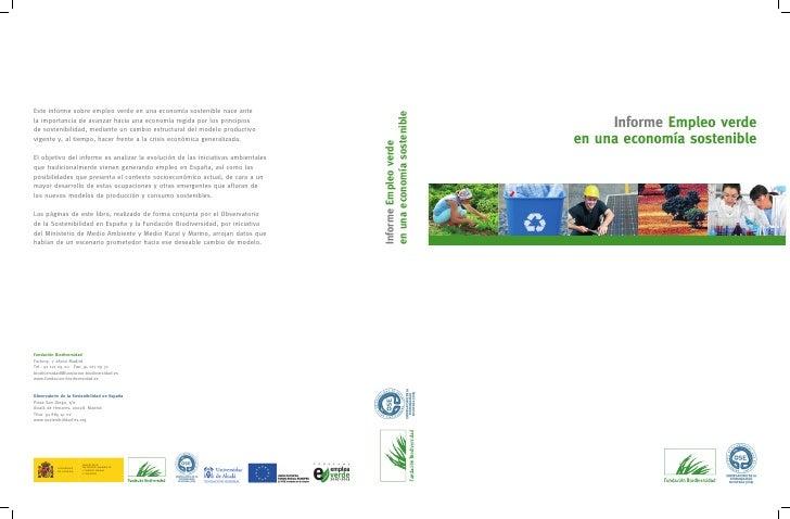 Informe Empleo verde en una economía sostenible