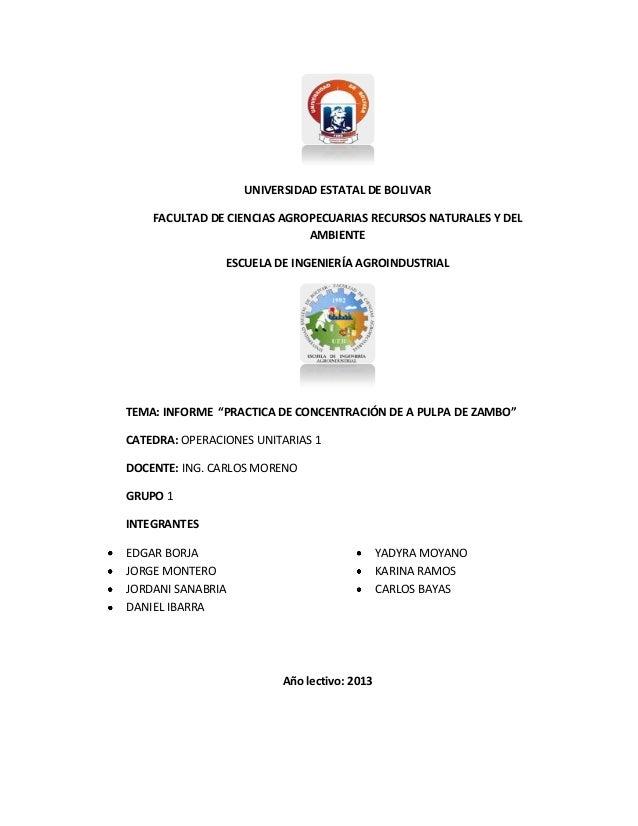UNIVERSIDAD ESTATAL DE BOLIVAR FACULTAD DE CIENCIAS AGROPECUARIAS RECURSOS NATURALES Y DEL AMBIENTE ESCUELA DE INGENIERÍA ...