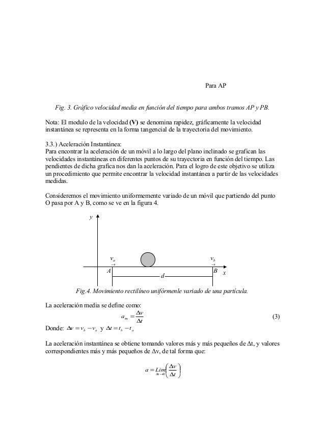 Informe De física I - Velocidad media. Velocidad Instantánea, y acele…
