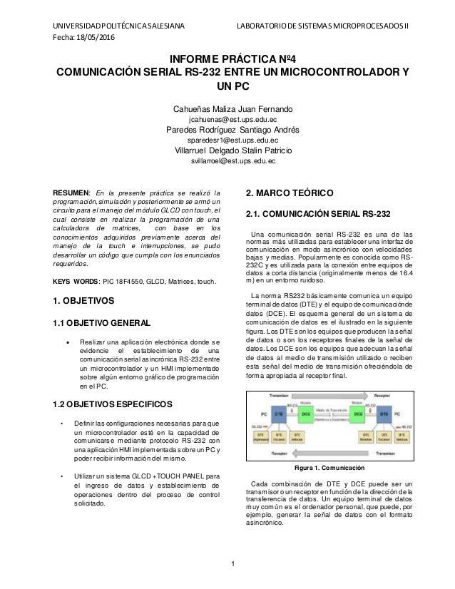Comunicación Serial entre un microcontrolador y un PC