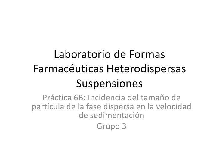 Suspensiones farmaceuticas conclusiones