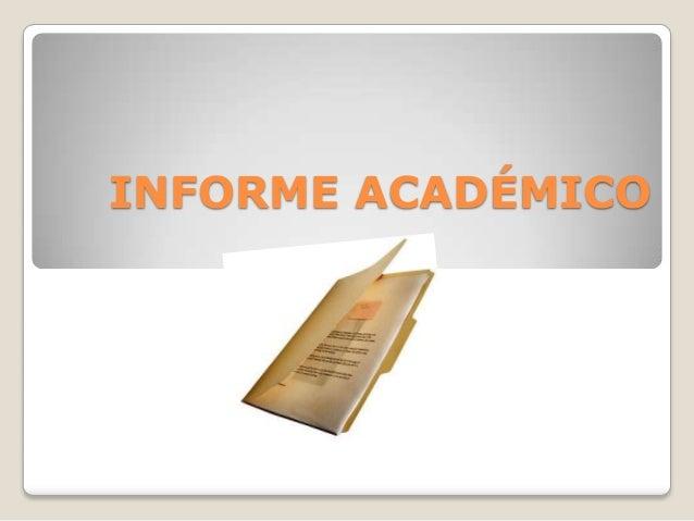 Resultado de imagen para imagen de informe academico