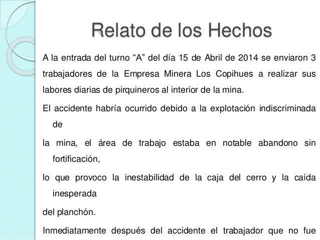 Informe Accidente Minero Planchón (ejemplo)