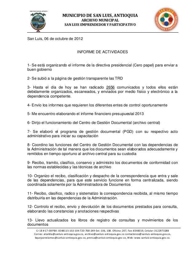 MUNICIPIO DE SAN LUIS, ANTIOQUIA                                          ARCHIVO MUNICIPAL                             SA...