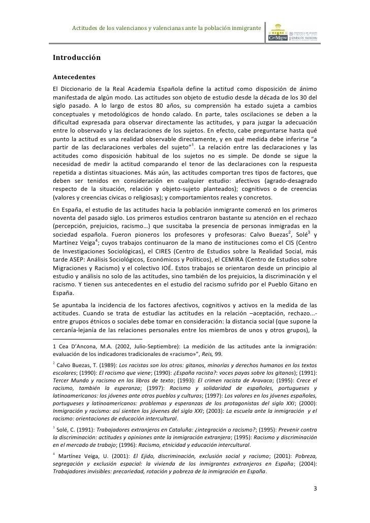 Actitudes de los valencianos y valencianas ante la población inmigranteIntroducciónAntecedentesEl Diccionario de la Real A...