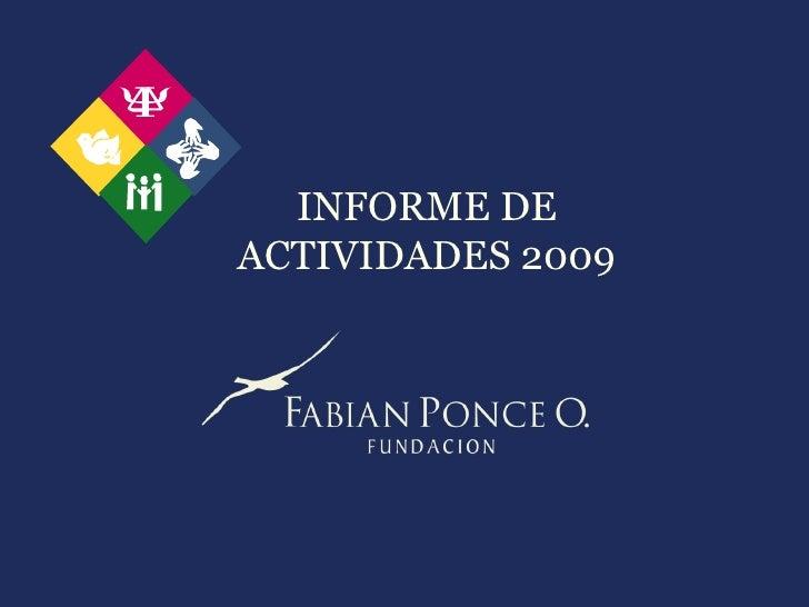 INFORME DE ACTIVIDADES 2009