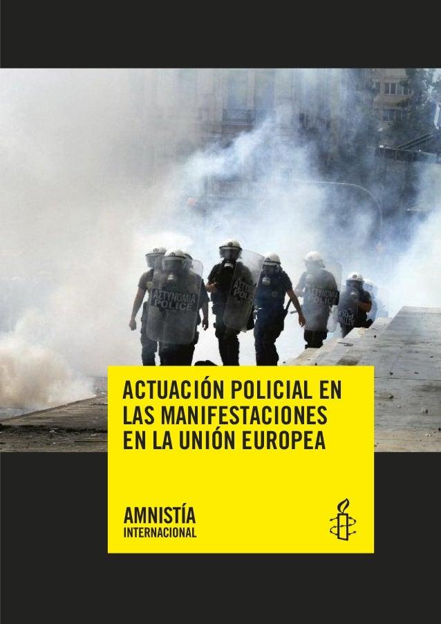 ACTUACIÓN POLICIAL ENLAS MANIFESTACIONESEN LA UNIÓN EUROPEA