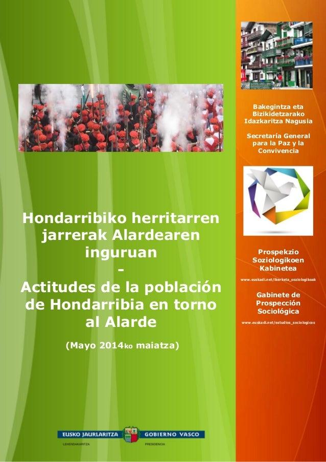 (Mayo 2014ko maiatza) Hondarribiko herritarren jarrerak Alardearen inguruan - Actitudes de la población de Hondarribia en ...