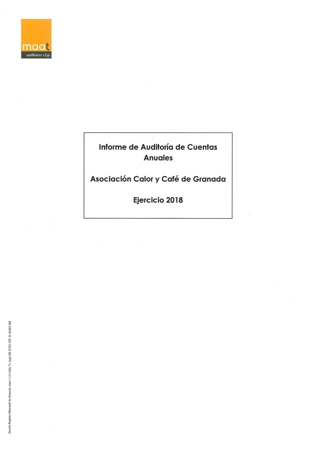 Informe auditoria 2018 + balance de cuentas.