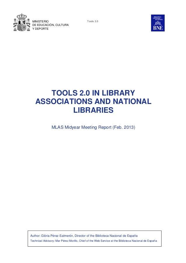 MINISTERIO                                  Tools 2.0 DE EDUCACIÓN, CULTURA Y DEPORTE      TOOLS 2.0 IN LIBRARY   ASSOCIAT...