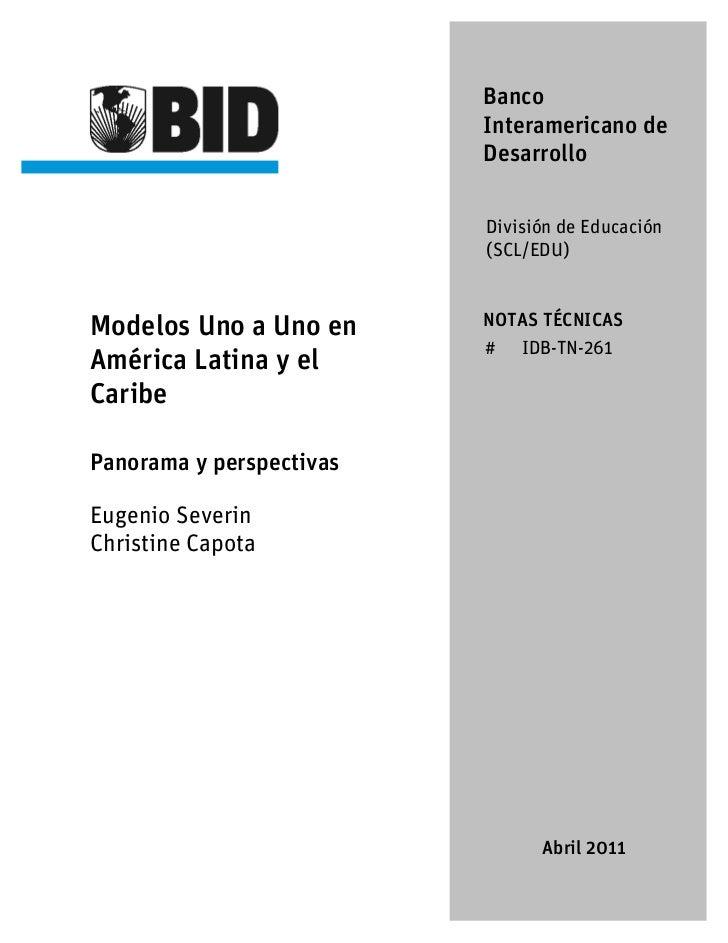 Banco                          Interamericano de                          Desarrollo                          División de ...