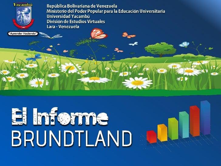 Informe Brundtland Pdf