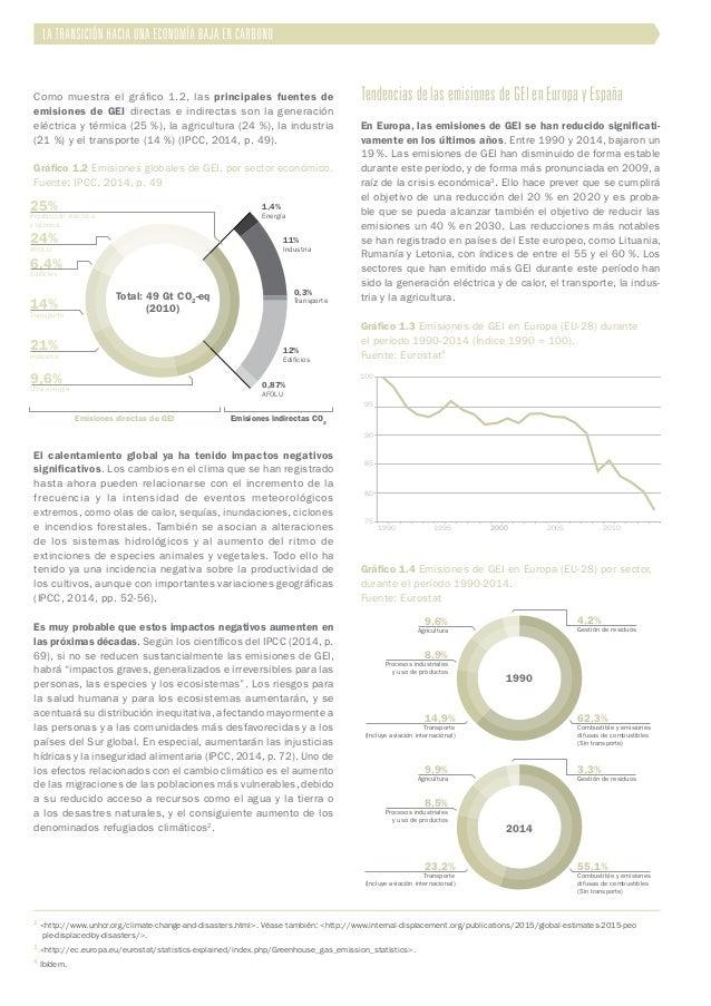 Como muestra el gráfico 1.2, las principales fuentes de emisiones de GEI directas e indirectas son la generación eléctrica...