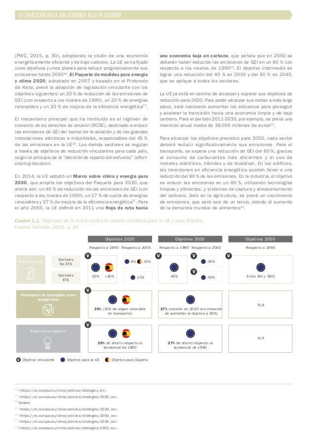 (PWC, 2015, p. 30), adoptando la visión de una economía energéticamente eficiente y de bajo carbono. La UE se ha fijado un...