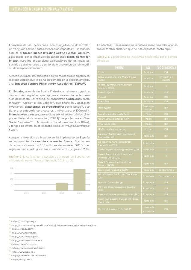 """financiero de las inversiones, con el objetivo de desarrollar un """"lenguaje común"""" para entender los impactos64 . De manera..."""