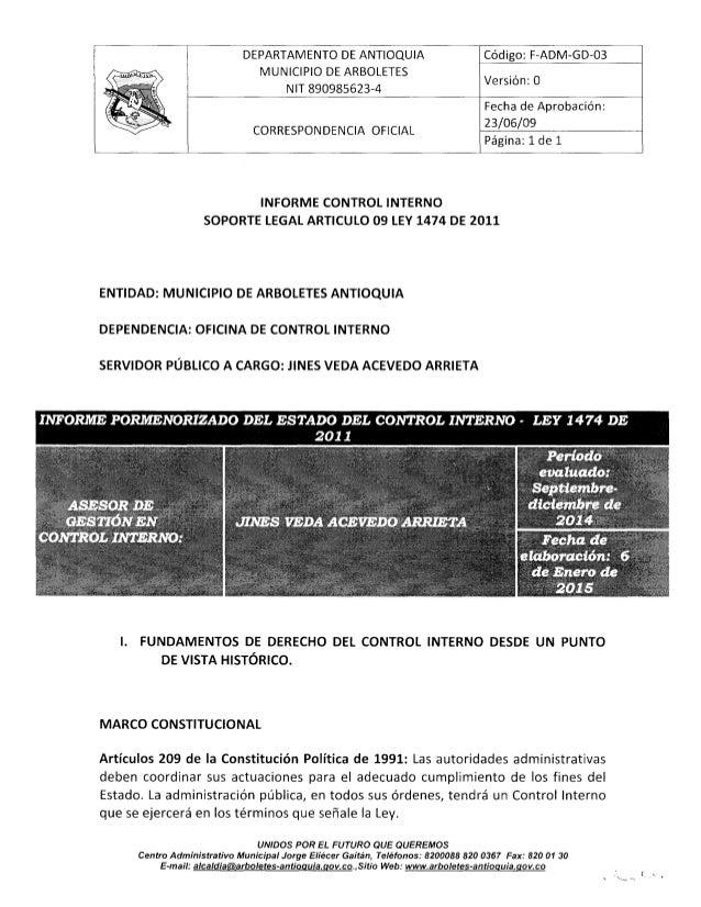 """¡""""il l""""  DEPARTAMENTO DE ANTIOQUIA Código:  F-ADM-GD-03  MUNICIPIO DE ARBOLETES  NIT 890985623-4 Versm"""":  0  Fecha de Apro..."""