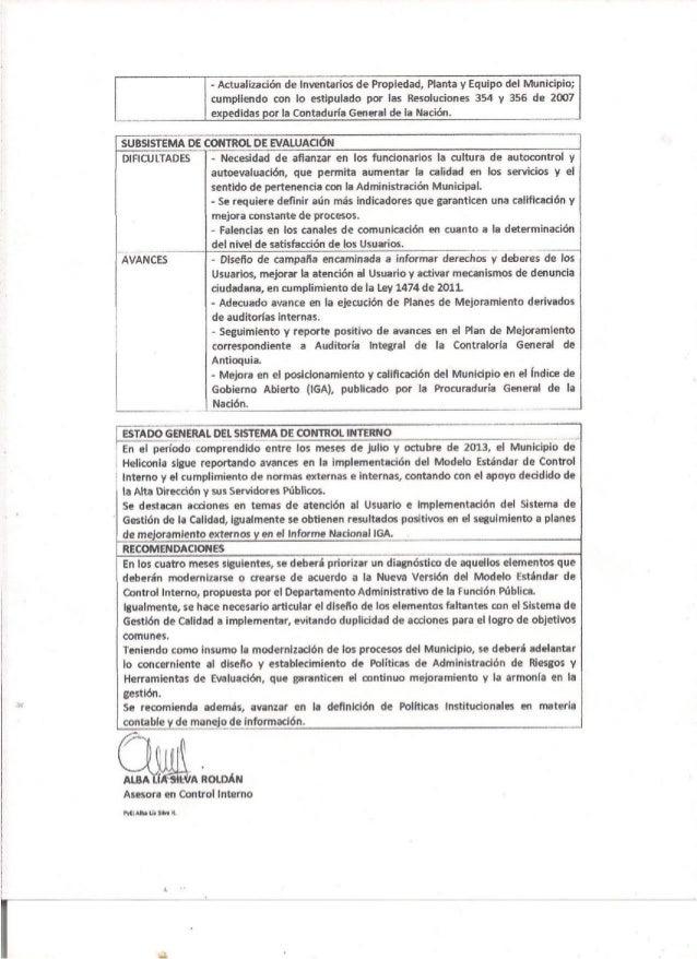 Informe cuatrimestral noviembre 2013 1