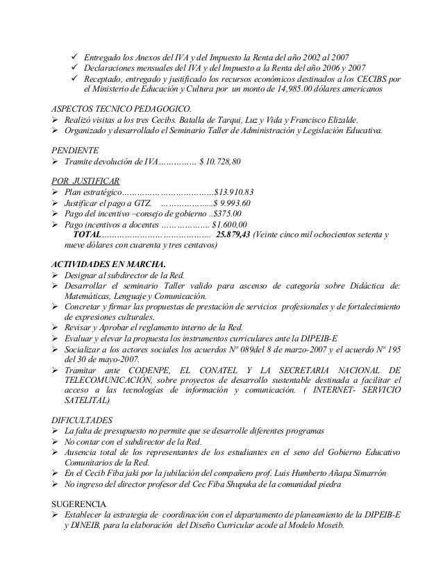 Informe de actividades director red 2007 Slide 2
