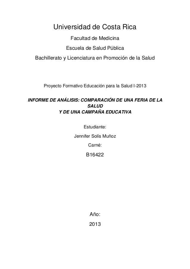 Universidad de Costa RicaFacultad de MedicinaEscuela de Salud PúblicaBachillerato y Licenciatura en Promoción de la SaludP...