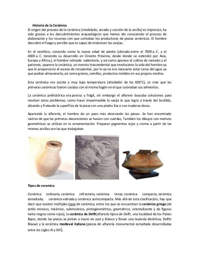 Informe de cer mica for Origen de la ceramica