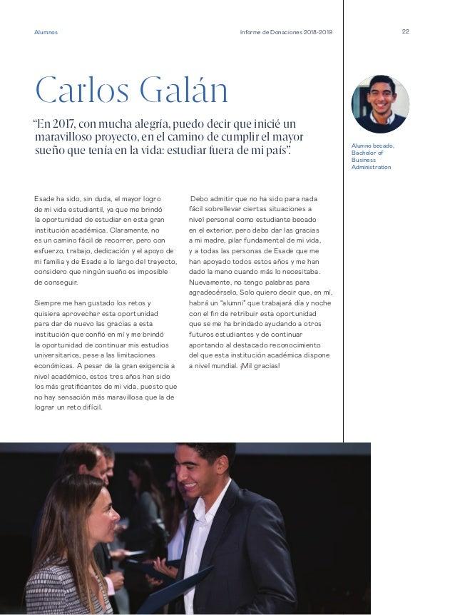 """22 Carlos Galán """"En 2017, con mucha alegría, puedo decir que inicié un maravilloso proyecto, en el camino de cumplir el ma..."""