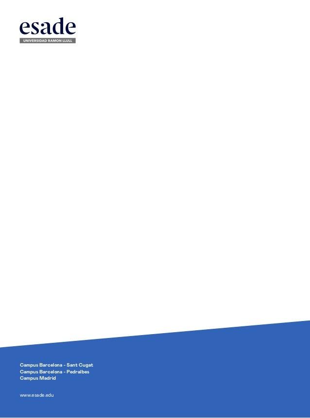 Informe de donaciones 2018-2019 - Fundación Esade