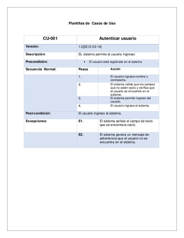Informe de especificacion de requisitos del sistema