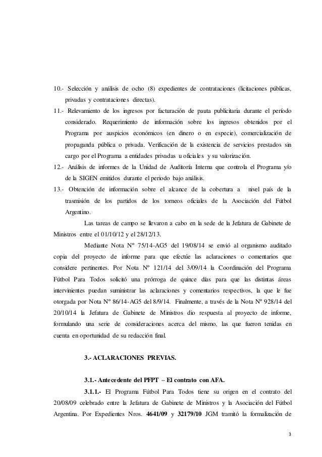 Lapidaria auditoría al Programa Fútbol Para Todos  Slide 3