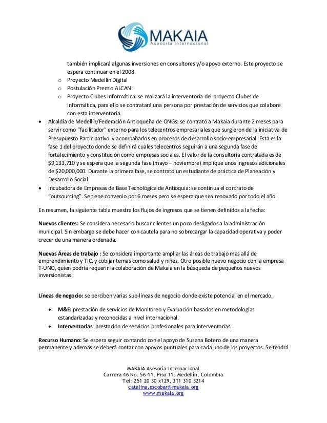 MAKAIA Informe de gestión 2006 y perspectivas 2007 Slide 3