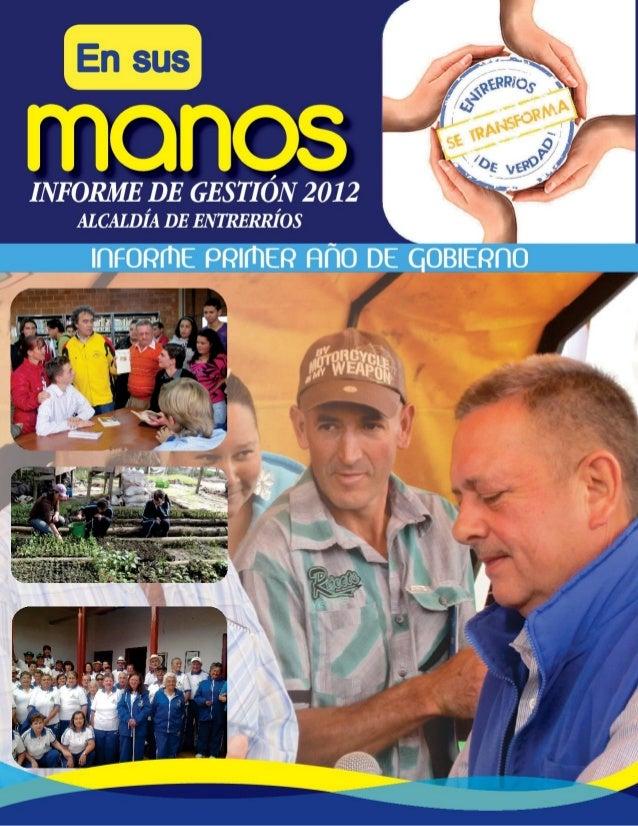 Informe de gestion 2012 (en sus manos)