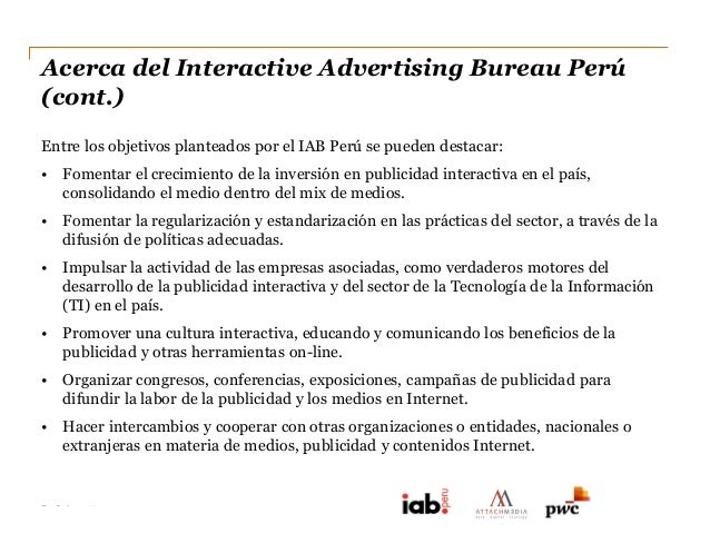 Informe de inversion publicitaria en internet iab peru - Internet advertising bureau iab ...