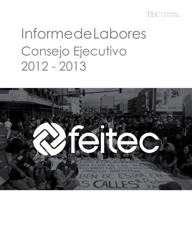 Informe de Labores Consejo Ejecutivo 2012 - 2013