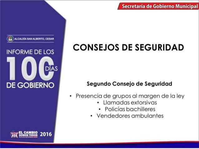 Informe de los 100 primeros días de gobierno