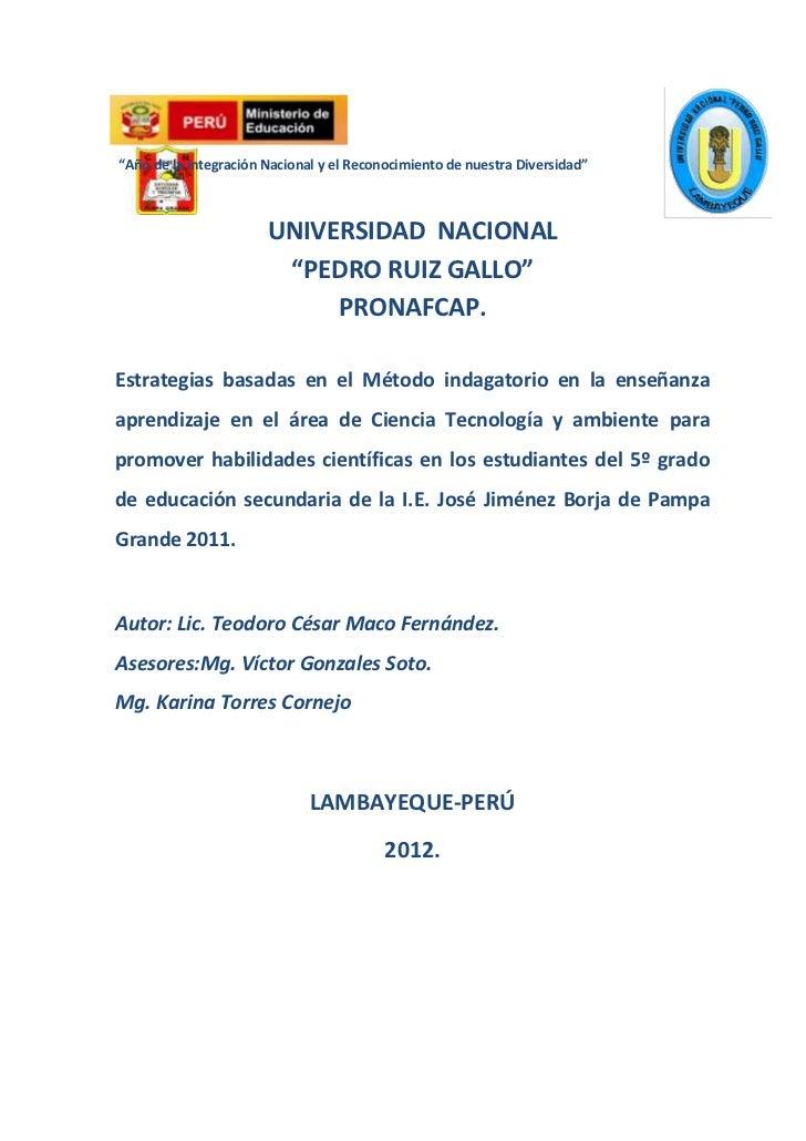 Informe Del Proyecto Investigación Acción 2012