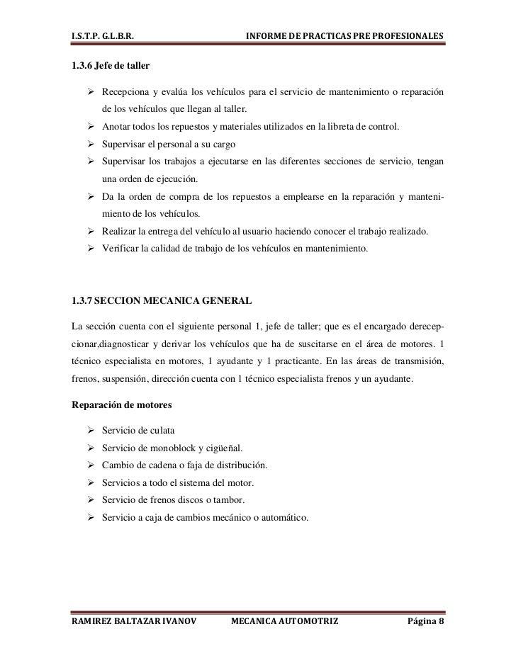 Informe de mecánica automotriz 2