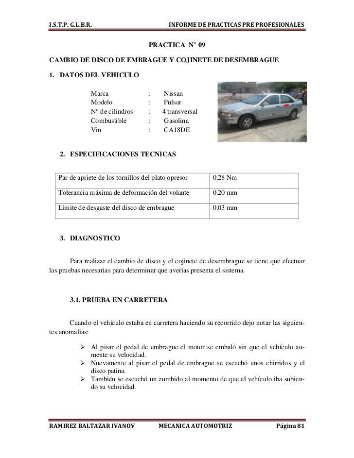 Informe De Mec 225 Nica Automotriz 2