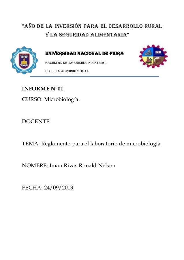"""""""AÑO DE LA inversión para el desarrollo rural y la seguridad alimentaria"""" UNIVERSIDAD NACIONAL DE PIURA FACULTAD DE INGENI..."""