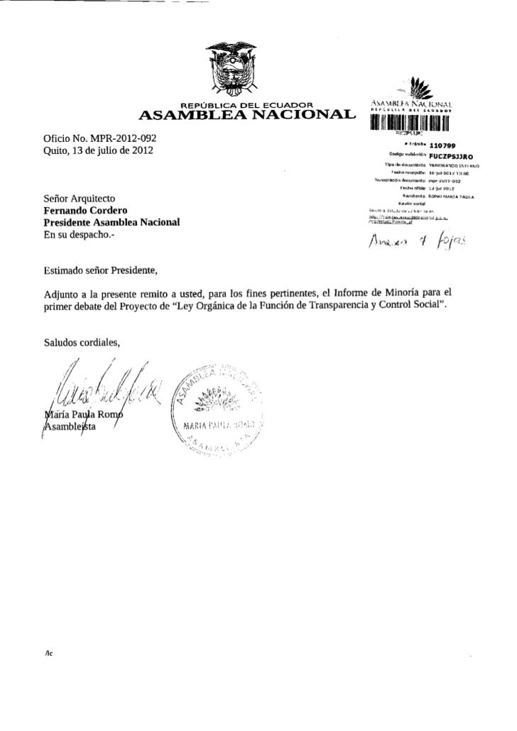 REPÚBLICA DEL ECUADOR                        ASA-MHÍ.f.A N A U O N A L                                                    ...