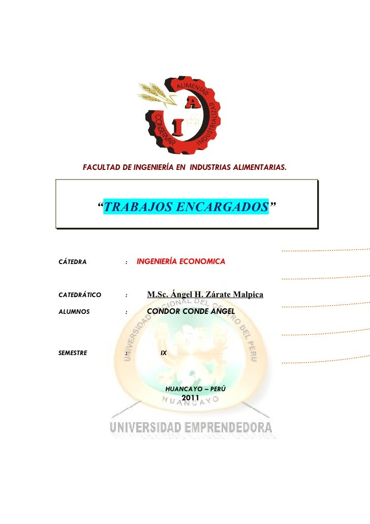 TRABAJOS ENCARGADOS DE ING, ECONOMICA