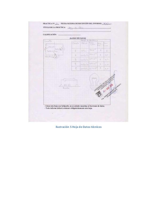 Informe de práctica de física 3 ley de ohm