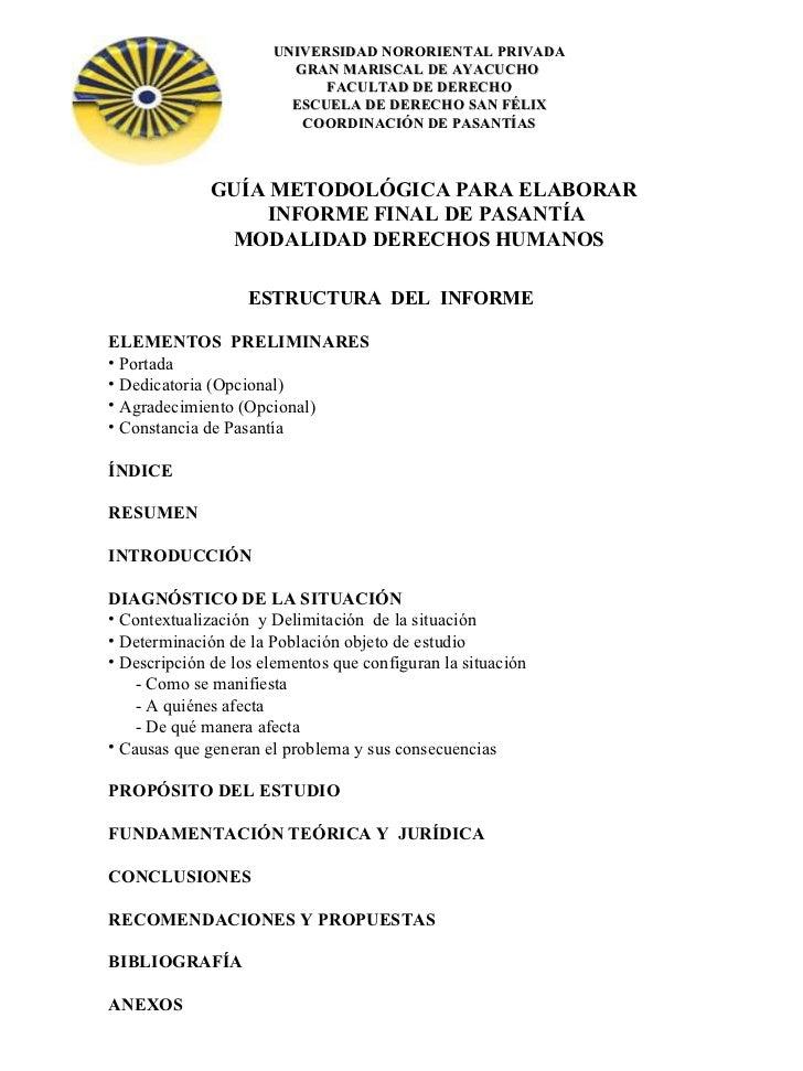 UNIVERSIDAD NORORIENTAL PRIVADA GRAN MARISCAL DE AYACUCHO  FACULTAD DE DERECHO ESCUELA DE DERECHO SAN FÉLIX COORDINACIÓN D...