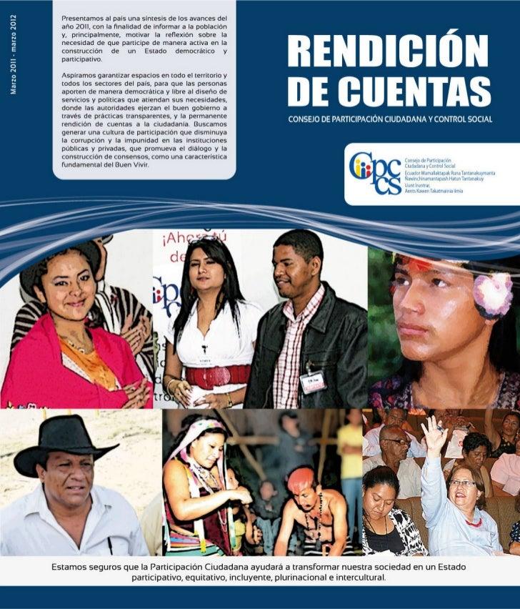 Informe de Rendición de Cuentas del CPCCS 2011 - 2012