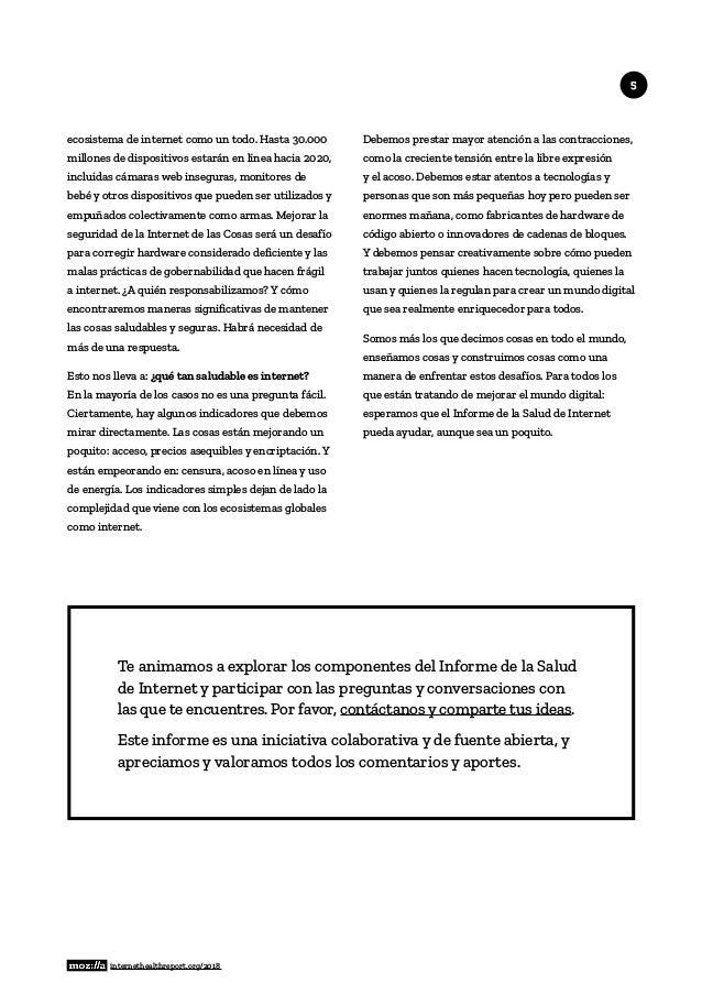 Informe de salud de internet 2018