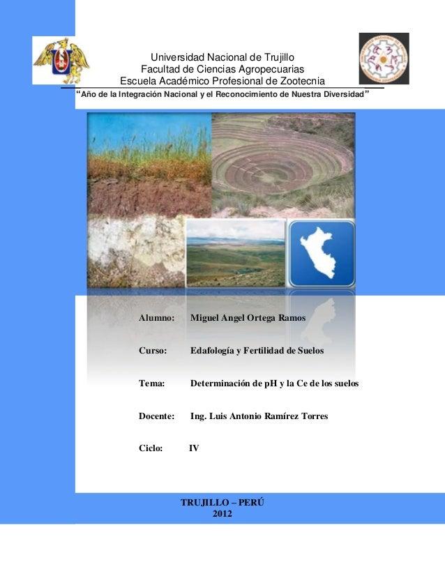 Universidad Nacional de Trujillo               Facultad de Ciencias Agropecuarias           Escuela Académico Profesional ...