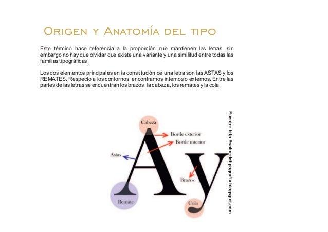 Tipografía: Origen y Anatomía del Tipo.
