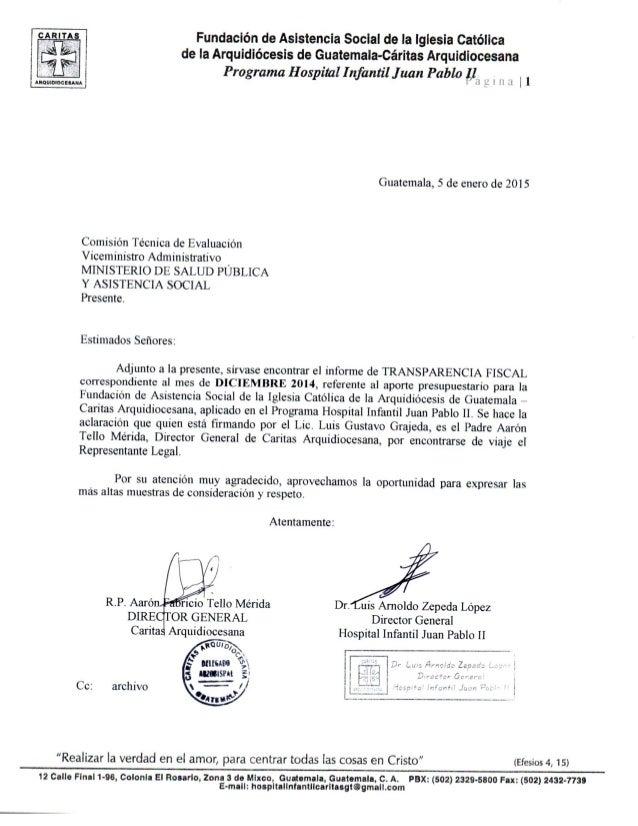 Fundación de Asistencia Social de la Iglesia Católica de la Arquidiócesis de Guatemala-Cáritas Arquidiocesana  Programa Ho...