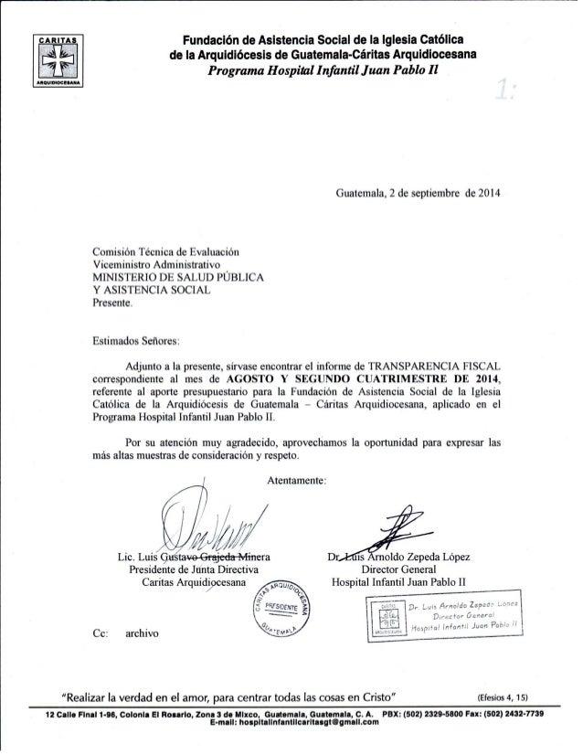 ARITA Fundación de Asistencia Soclal de la Iglesia Católica de la Arquidiócesis de Guatemala-Cáritas Arquidiocesana  Progr...