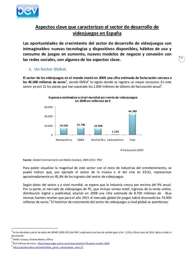La Industria del Desarrollo de Videojuegos en España 2010 Slide 2