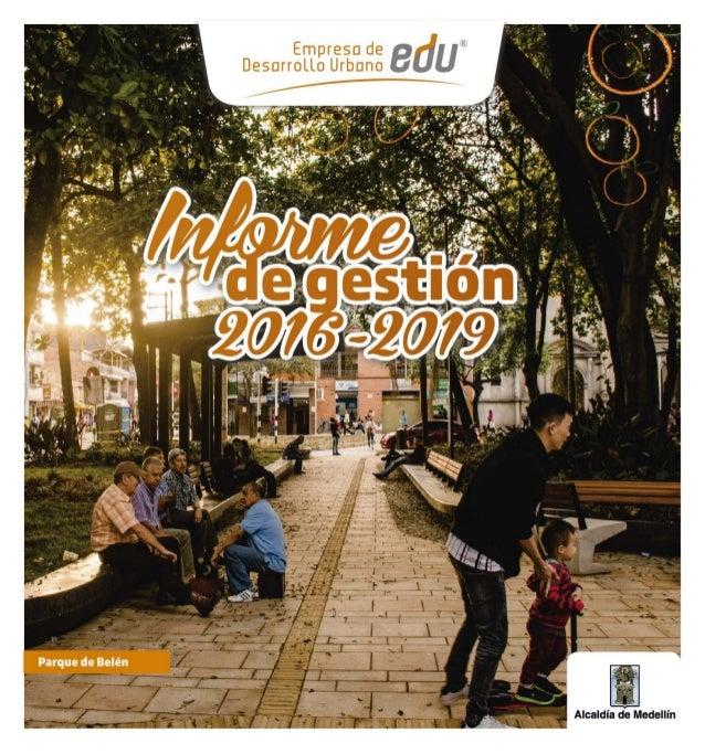 Informe de gestión EDU 2016 - 2019